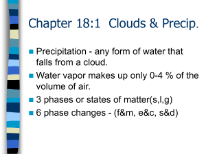Chapter 18: Clouds & Precip.