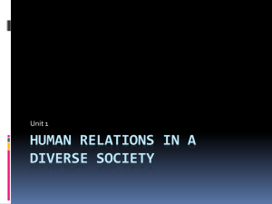 Human Relations in a Diverse Society