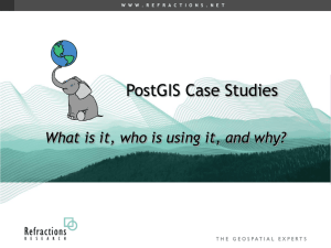 PostGIS Case Studies