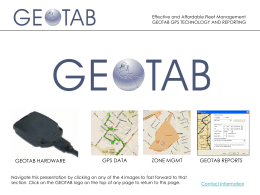 to view a Microsoft PowerPoint based GeoTab