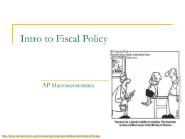 Intro to Fiscal Policy