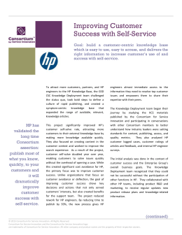 Improving Customer Success with Self-Service