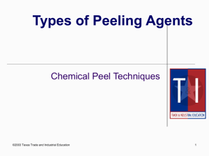 Chp 19 Chemical Peels