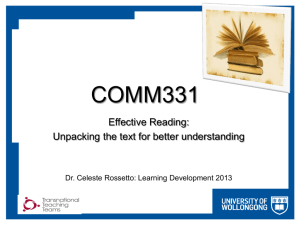 COMM331 Effective Reading Rossetto presentation [PPTX 919KB]