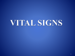Vital Signs Lecture