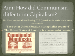 How does Communism differ from Capitalism