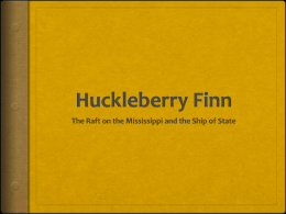 Huckleberry Finn - De Anza College