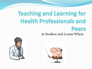 Teaching Health Professionals and Peers