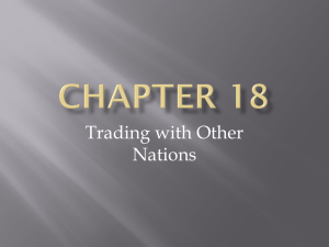 Chapter 18- Trading with Other Nations