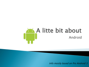Android Intro