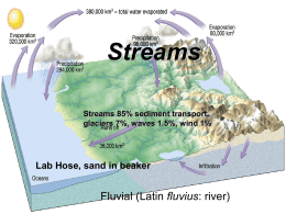 Lecture 11-12 Streams and Groundwater x