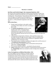 Marx vs. Lenin worksheet