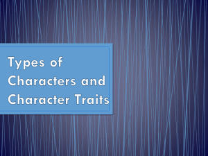Types of Character and Character Traits