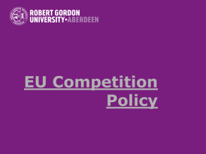 Lecture 7: EU Competition Policy