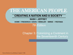 THE AMERICAN PEOPLE CREATING A NATION AND A SOCIETY