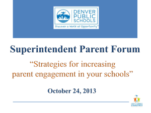 Superintendent Parent Forum - Office of Family and Community