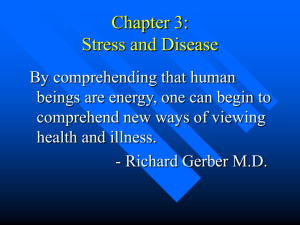 Chapter 3: Stress and Disease