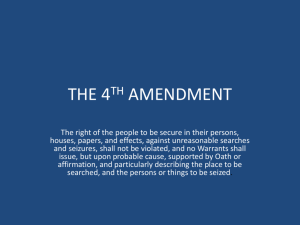 the 4th amendment - Bensalem Township School District