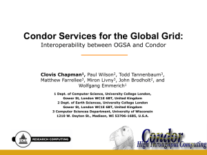 Condor services for the Global Grid