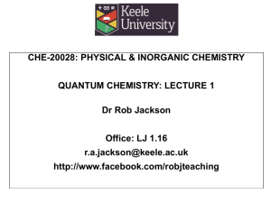 che-20028 QC lecture 1 - Rob Jackson's Website