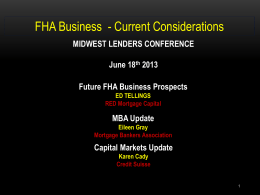 FHA Fills the Credit Void During