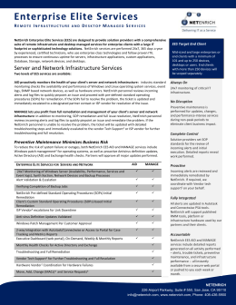 Enterprise Elite Services Datasheet
