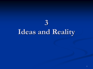 Ideas and Reality