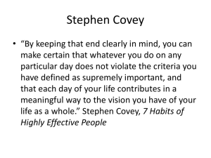 Stephen Covey - WordPress.com