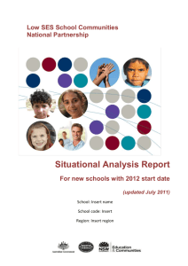 Situational Analysis Report Template 2012