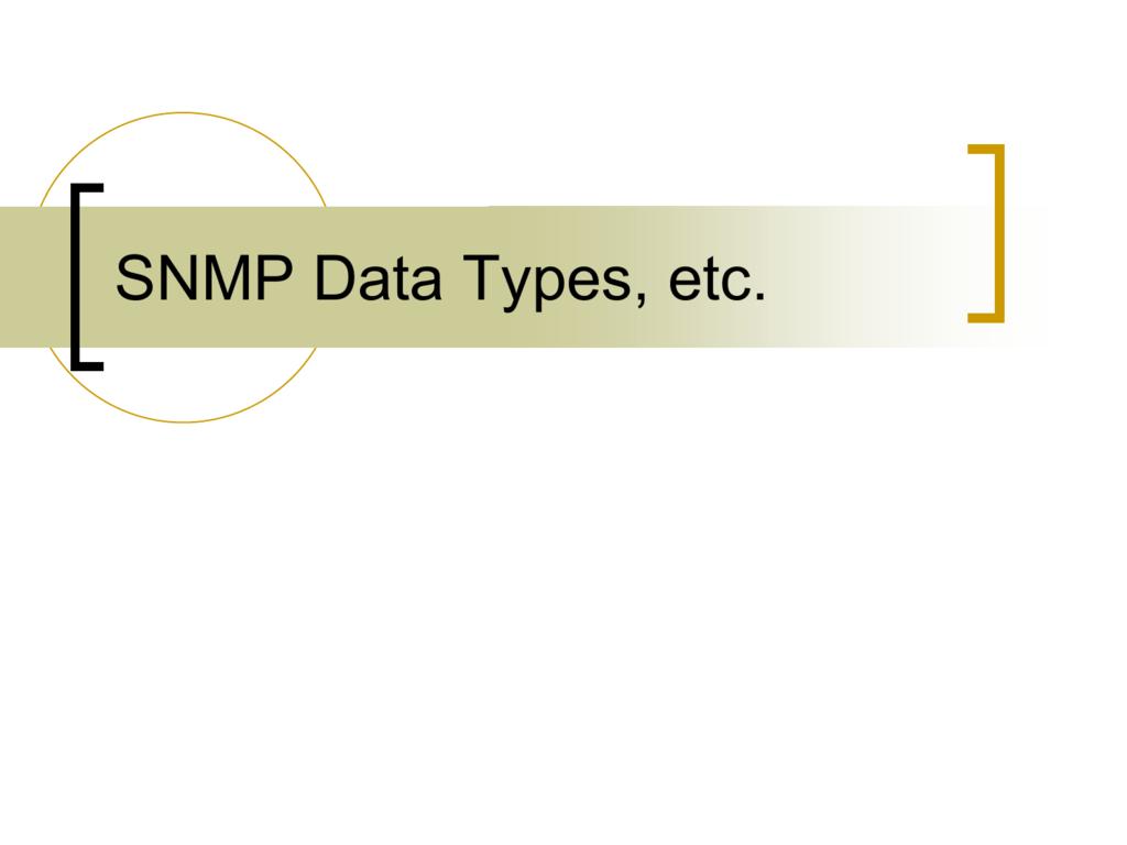 SNMP Data Types