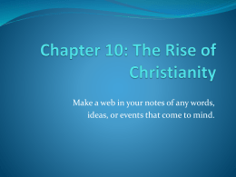 Chapter10. Early Christianity