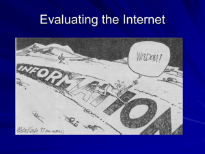 7. Evaluating Internet Sources Power Point
