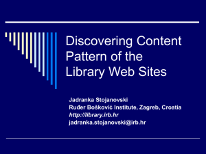 Discovering Content Pattern of the Library Web Site