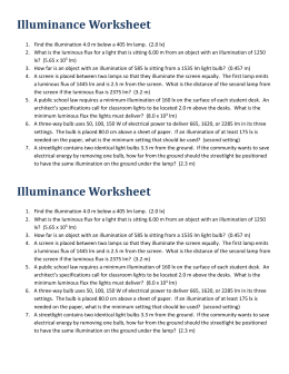 Illuminance - Worksheet