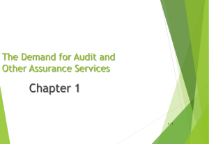 Chapter 1 * The Demand for Audit and Other