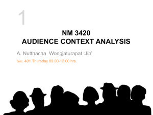 nm3420 audience context analysis