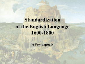 Codifying the English Language