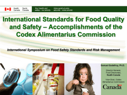 International Standards for Food Quality and Safety