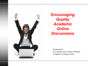 Online Discussions - St. Cloud State University