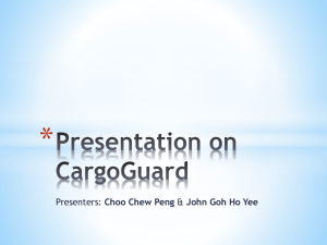 Presentation on CargoGuard