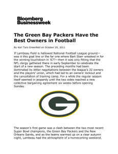 The Green Bay Packers are a historical, cultural, and geographical