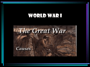 PPT - WWI causes