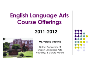 English Language Arts Course Offerings 2011