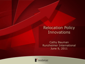 RELOCATION POLICY UPDATES Number of Policies