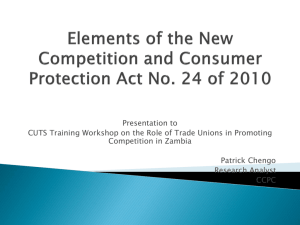 Elements of the New Competition and Consumer Protection Act No