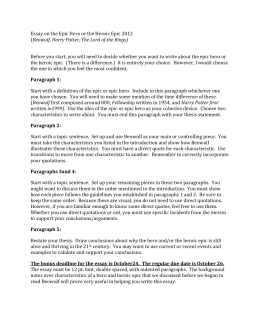 hero essay prompt odyssey Write a five paragraph persuasive essay arguing whether you think odysseus was a hero or not your essay should be clearly written and your position should be well supported with evidence/examples from the text and film.