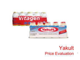 Yakult Price Evaluation