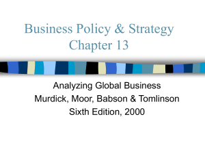Chapter 13 - Global Business Delta Airlines
