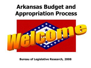 Arkansas Budget and Appropriation Process