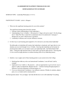 Seminar Document - Leslie Mergner's Leadership Development